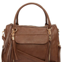 Tasseled Treasure Brown Tote by Urban Expressions