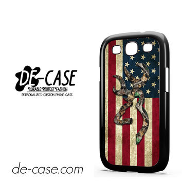 Browning Deer Camo American Flag Wood For Samsung Galaxy S3 Case Phone Case Gift Present