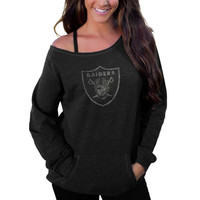 Oakland Raiders Women's Sideliner II Crew Sweatshirt – Black
