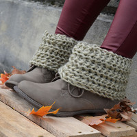 Whiskey Cabin Taupe Sweater Top Boot