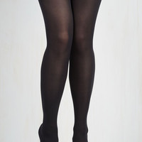 Film Noir More Than Meets the Eyesome Tights Size OS by ModCloth