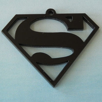 Superman Pendant by GreekArt on Etsy