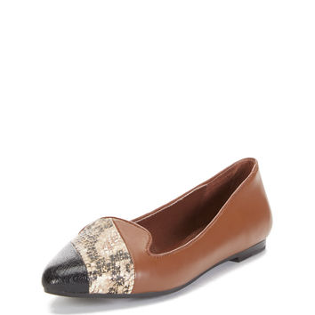 Nicole Two Tone Cap-Toe Loafer