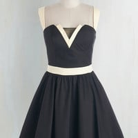 Mid-length Sleeveless Fit & Flare Trim and Prosper Dress