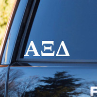 Alpha Xi Delta Car Decal | Alpha XI Delta Car Sticker | Alpha XI Delta Sorority | Alpha XI Delta Laptop | Greek Car Decal | 164