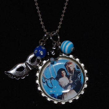 The Labyrinth - David Bowie Bottle Cap Necklace