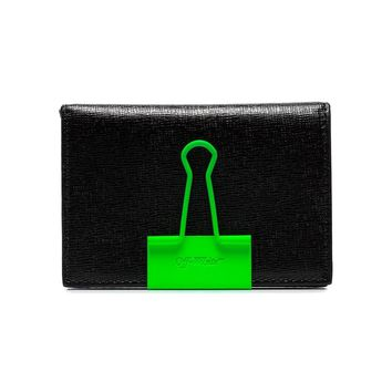 Neon Green Binder Clip Wallet by OFF-WHITE