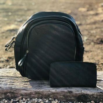 Republic Backpack with Wallet in Black
