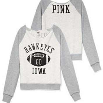 University of Iowa Slouchy Crew - PINK - Victoria's Secret