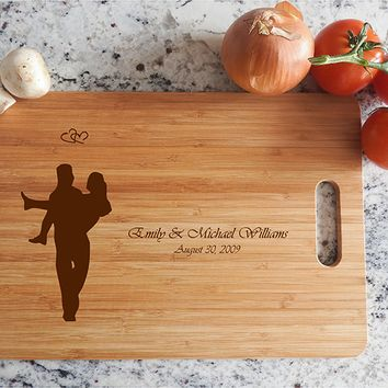 ikb638 Personalized Cutting Board lovers wedding gift anniversary