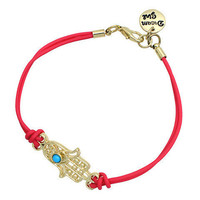 Pree Brulee - Dainy Hamsa Bracelet - Red & Sea Green