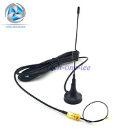GSM Antenna 433Mhz 5dbi SMA Plug Connector Straight for Ham Radio + SMA female bulkhead to Ufl./IPX pigtail cable 1.13 15cm