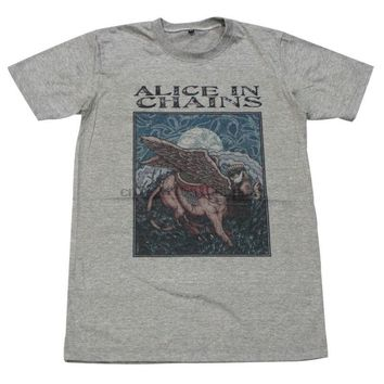 Alice in Chain alternative metal rock band music punk #GV87 Men Gray T-Shirt M L