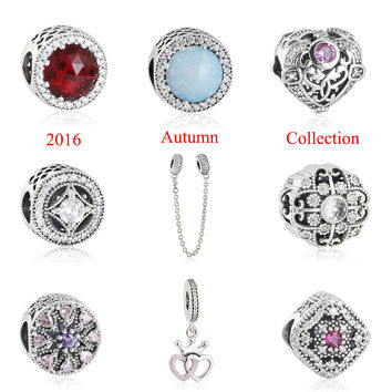 2016 Autumn Collection Charms Bead Fits Pandora Bracelets 925 Sterling-Silver-Jewelry Charm Beads For Jewelry Making DIY Shealia