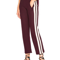 Isabel Marant Etoile Dobbs Sporty Knit Track Pants in Burgundy | FWRD
