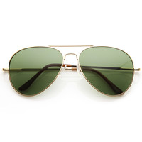 Classic Aviator Sunglasses Retro Metal Frame 1376