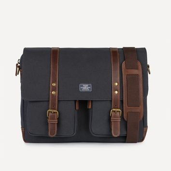 Frank & Oak Billings Messenger Bag in Navy