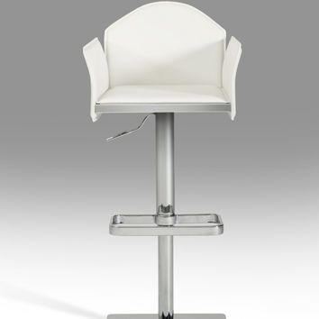 Modrest 5108 Modern White Eco-Leather Bar Stool VGHR5108-WHT