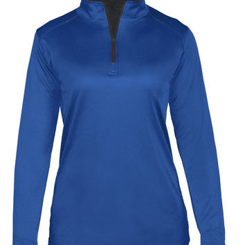 Badger 4103 B-Core Ladies 1/4 Zip - Royal Graphite