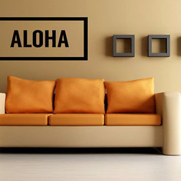 Aloha quote wall sticker quote decal wall art decor 4603