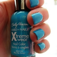 Sally Hansen Hard as Nails Xtreme Wear, Blue Me Away, 0.4 Fluid Ounce