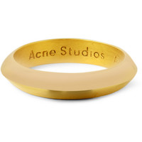 Acne Studios - Gold-Plated Sterling Silver Ring | MR PORTER