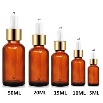5-50ML Travel Storage Packaging Bottles Amber Glass Reagent Eye Dropper Drop Aromatherapy Liquid Pipette Bottle P0