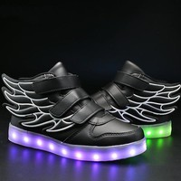 Best Kids Light Up Shoes With Wings Unisex Girls Boys Light Up Shoes Kids Led Shoes
