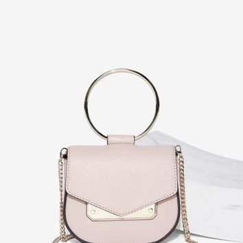 Nasty Gal Ring Leader Vegan Leather Crossbody Bag - Nude
