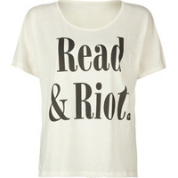 RVCA Read & Riot Womens Tee 184665151 | clothing | Tillys.com