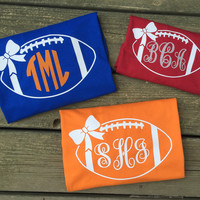 Monogrammed Football T-Shirts