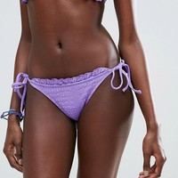 ASOS Textured Frill Bikini Bottom at asos.com