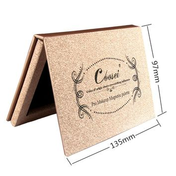 2pcs/lot Coosei Empty Makeup Palette Rose Gold Magnetic Eyeshadow Palette Naked Cosmetic Eye Shadow Makeup Palette