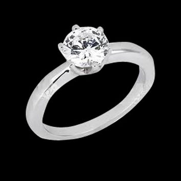 1.25 carat F VS1 diamond engagement ring prong setting solitaire