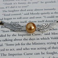 Winged Golden Ball Bracelet | Wicked Clothes