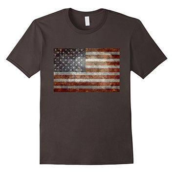 """Old Glory"" American Flag Banner in Super Grunge T-Shirt"