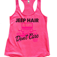 JEEP HAIR Don't Care Womens Workout Tank Top