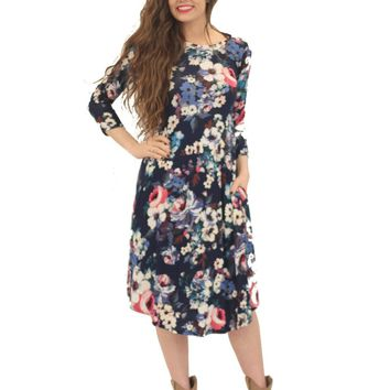 Audra Floral Swing Dress