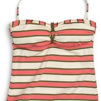 Sperry Top-Sider Striped Tankini Coral/ArmyStripe, Size M  Women's