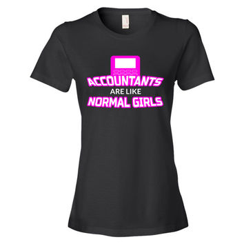 Awesome Accountant Shirt - Funny Female Accountant T-Shirt