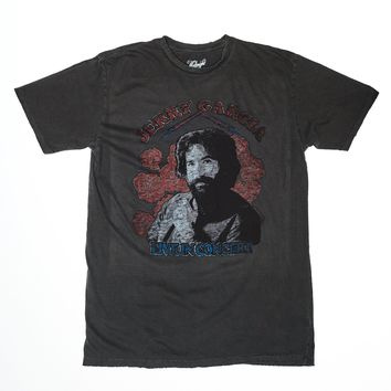 Jerry Garcia Live in Concert Men's T-Shirt - Vintage Black