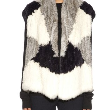 Colour-block rex rabbit-fur gilet | Vince | MATCHESFASHION.COM US