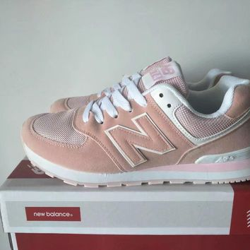 """New Balance 574"" Women Sport Casual Multicolor N Words Sneakers Running Shoes"