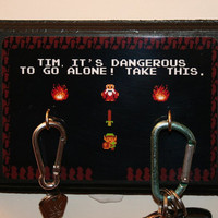 THREE HOOK Custom Name Legend Of Zelda Video Game Key Hook - Add Your Name - Great Housewarming Gift