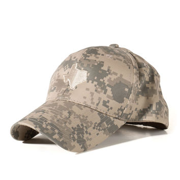 Digital Camo Texas Hat - Tan
