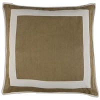 Muzillac 24x24 Pillow, Beige, Decorative Pillows