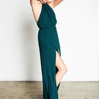 Onyx Gown- Emerald Rayon | Stone Cold Fox
