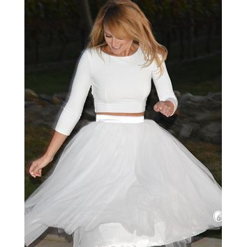 8bf028182a Clarisa Puffy Tulle Skirt (Fitted Waistband)