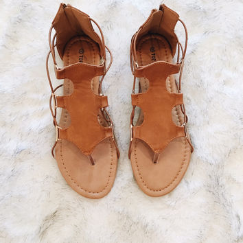 A Strappy Everyday Sandal in Tan