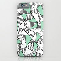 Abstraction Lines with Mint Blocks iPhone & iPod Case by Project M